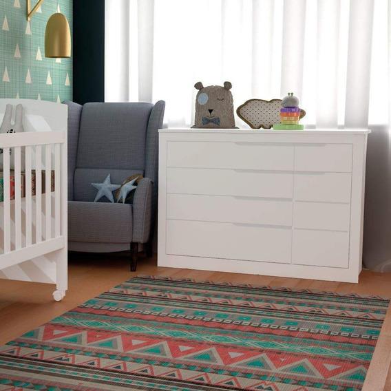 Cômoda De Bebê Fraldário 1 Porta 5 Gavetas Cléo Iwt