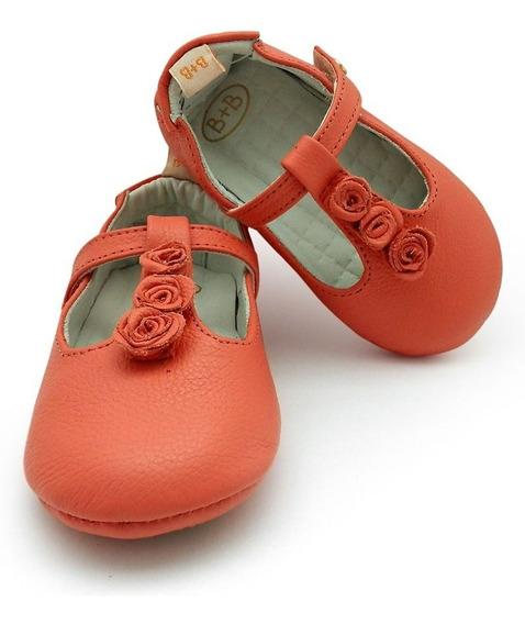 Sapato Infantil Menina Bebê Couro Sapatilha Black Friday