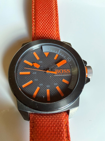 Relógio Hugo Boss Masculino Laranja - Exclusivo!