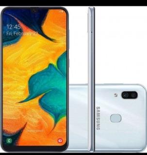 Celular Samsung Galaxy A30, 32gb 3ram Branco