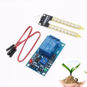 Módulo Relé + Sensor Umidade Do Solo 12v Automação Irrigação