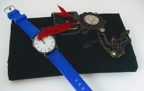 Relógio Unissex Feminino Masculino Grande Cores A Escolher Com Pulseira De Silicone Lindo Barato