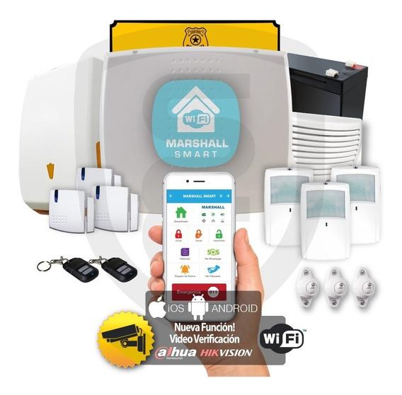 Kit Alarma Inalámbrica Marshall 3 Ip Wifi Aplicación Celular Marshall Smart Domiciliaria Hogar Casa Comercio Kit5