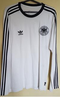 Camisa Futebol Retrô Oficial adidas Alemanha Manga Longa