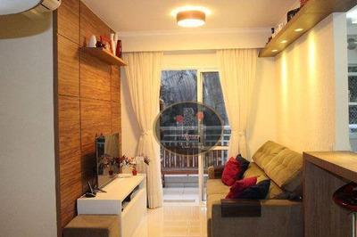 Apartamento Com 2 Dormitórios À Venda, 63 M² Por R$ 380.000 - Marapé - Santos/sp - Ap3279