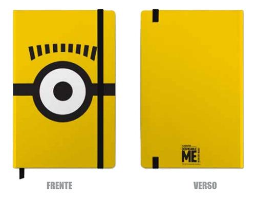 Caderneta Anotacao Minions Glasses Amarelo 14cm 96fls