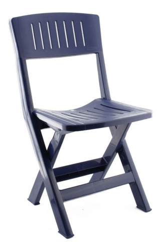 Imagen 1 de 1 de Silla Plástica Plegable Azul
