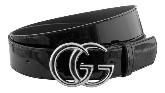 Cinturon De Charol Liso Estilo Gucci Calidad Premium
