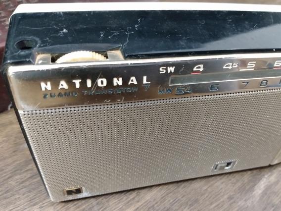 Rádio Antigo Am National Transistor 7 At 290 (c35)