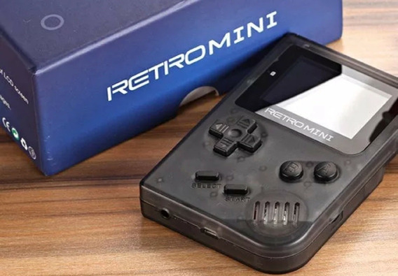 Game Boy Colour Retro Mini Cor Cinza, Com Micro Sd Jogos