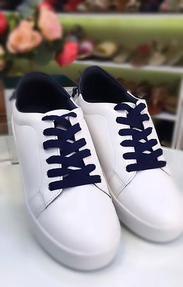 Tênis Via Uno Branco/azul Ref 68221040