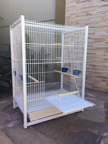 Viveiro Calopsitas Ring Neck Agapornis Aves Mansos Branco