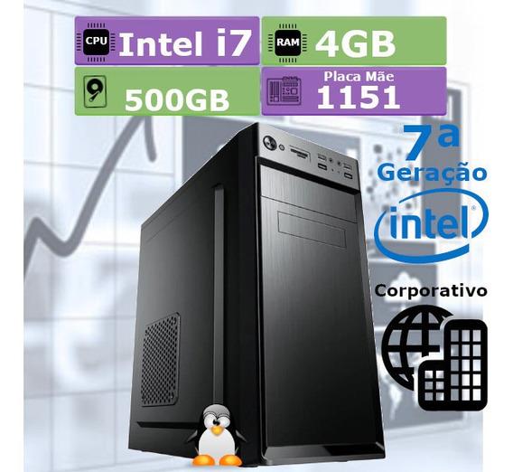 Pc Desktop 7ª Geração I7 7700 4gb Hd 500gb