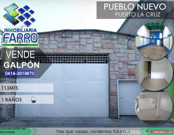 Venta De Galpon En Puerto La Cruz Ve03-0022pl-rm
