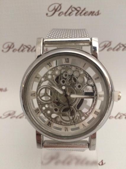 Relógio De Pulso Classico Luxo Aberto Shaarms K2507