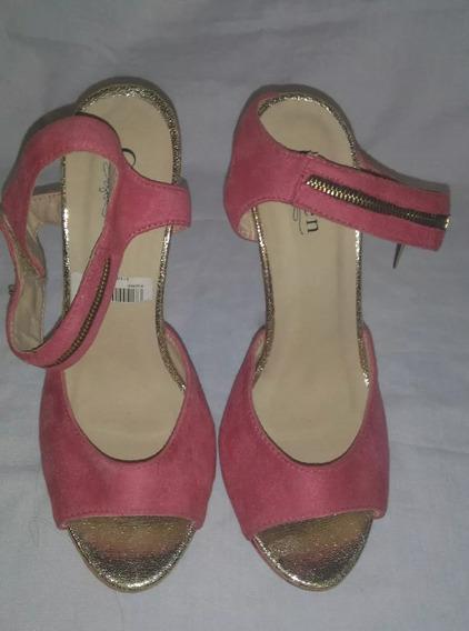 Sandalias De Tacón Color: Rosa Talla 39 Marca: Auren