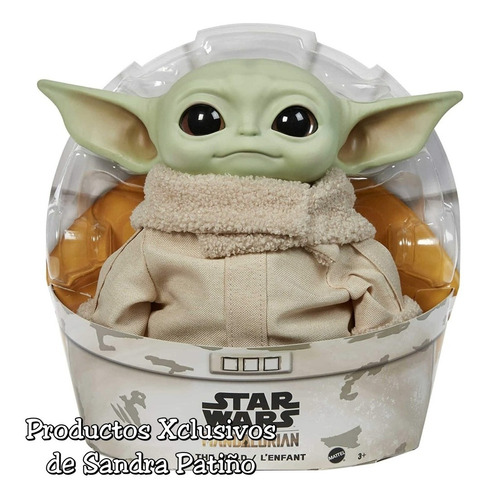 Baby Yoda Mandalorian Peluche Grogu De Mattel Star Wars 28cm