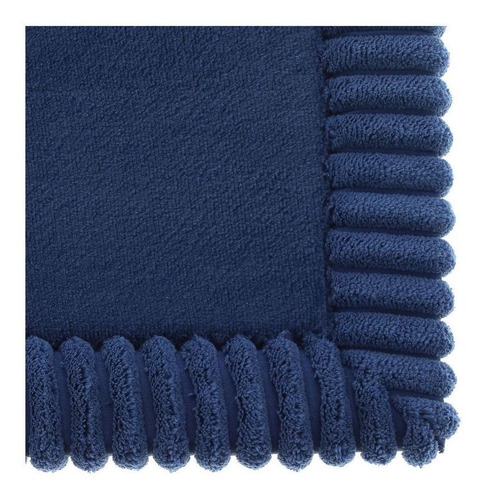 Imagen 1 de 3 de Tapete De Baño Borde2 Azul 43x61cm