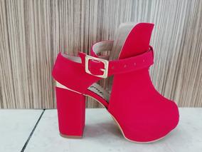 Sandalia Lupe 02 Roja, Tacon 8 Cm