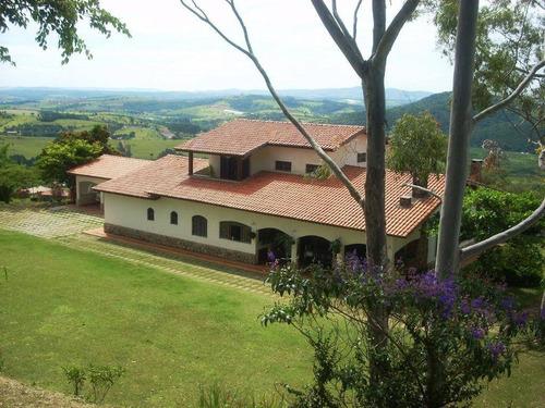 Chácara Com 7 Dormitórios À Venda, 5552 M² Por R$ 1.650.000,00 - Bairro Do Tanque - Atibaia/sp - Ch0120
