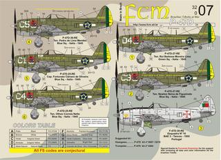 Decalque Fcm 3207 P-47 Thunderbolt Fab E Portugal 1/32 Decal
