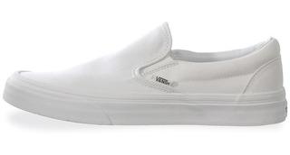 Tenis Vans Classic Slip On - 0eyew00 - Blanco - Unisex
