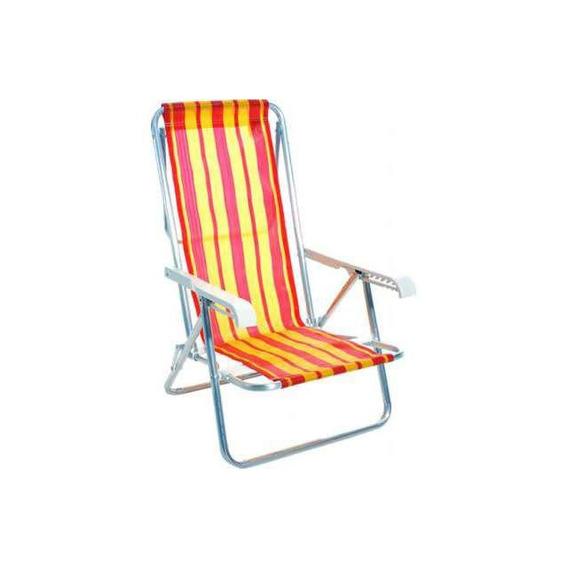 Cadeira Alumínio 8 Posições 2104 Mor Mor