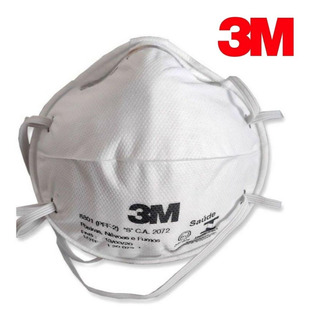 Máscara De Proteção 8801 Pff2 Anvisa Concha * Original 3m *