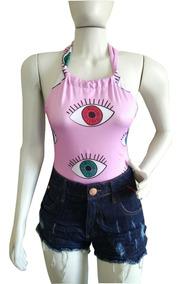 Body Cavado Feminino Com Estampa Variadas Lançamento #03