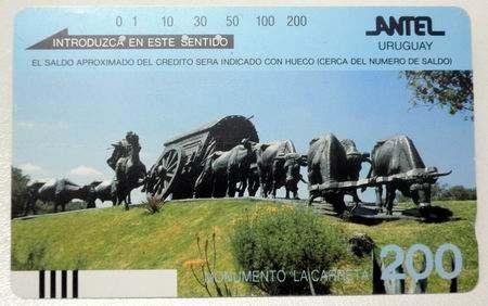 Tarjeta Telefonica Monumento La Carreta Uruguay