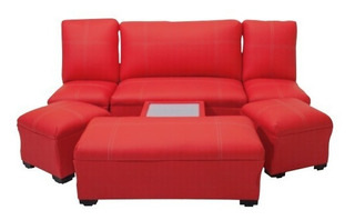 Sala Lounge Minimalista Moderna Puff Sillones