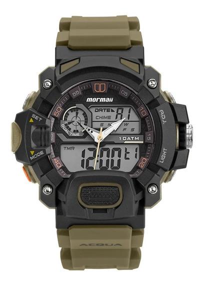 Relógio Mormaii Masculino Acquaforce Verde Moad1132/8v