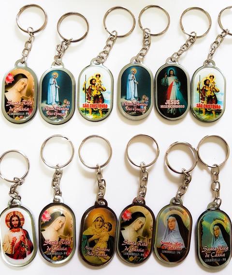 100un Chaveiro Medalha Religioso | Nossa Senhora