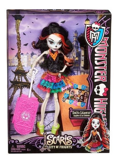 Boneca Infantil Monster High Skelita Calaveras Scaris