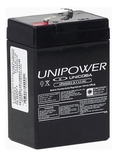 Bateria Unipower Up645 Seg Alarme Elevadores Iluminação 6v