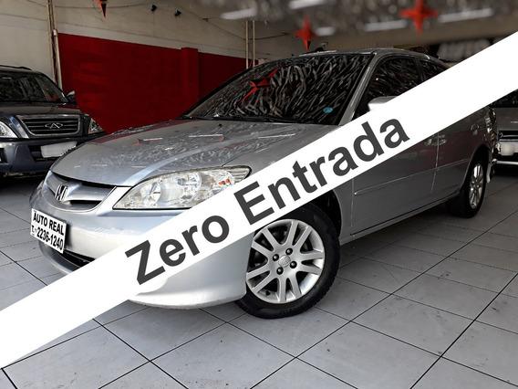 Honda Civic Lxl 1.7 / Carro Para Família / Zero Entrada