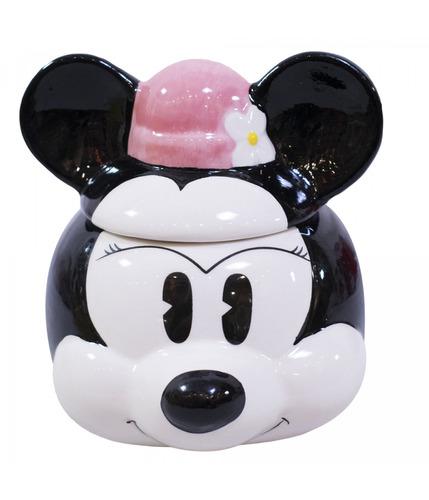 Imagem 1 de 5 de Caneca Porcelana Com Tampa-minnie  250 Ml Disney