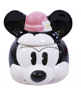 Caneca Porcelana Com Tampa-minnie 250 Ml Disney