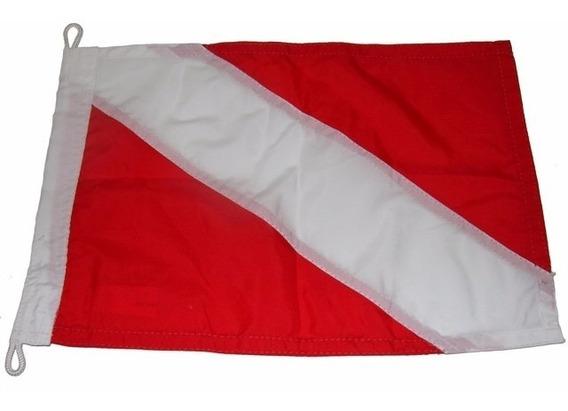 Bandeira De Mergulho Dupla Face P/ Embarcações 23x32cm