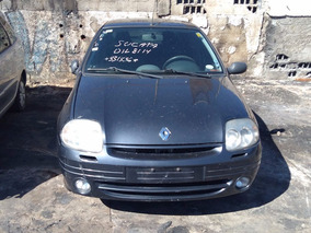 Sucata Clio Sedan 2003 1.0 16 Valvulas P/ Retirada De Peças