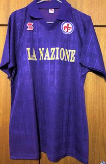 Camisa Fiorentina 1989/90 Roberto Baggio Autografada