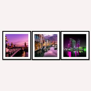 Quadros Decorativos Cidades Do Mundo Paris Dubai Veneza