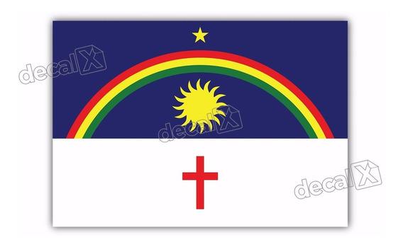 Adesivo Bandeira Pernambuco Resinado 4x6cm Bd34