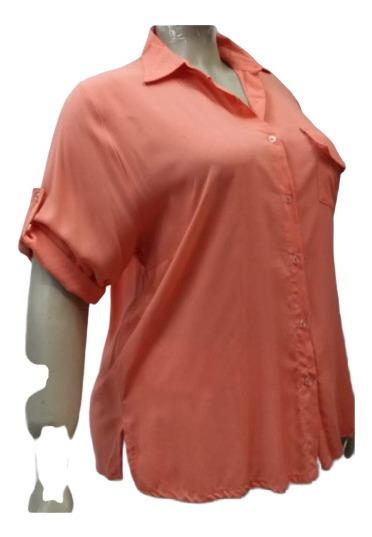 Camisola Camisa Fibrana Mujer Talles Grandes Y Especiales