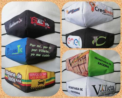 Tapabocas Personalizado Empresas, Logos Diseños Y Personas