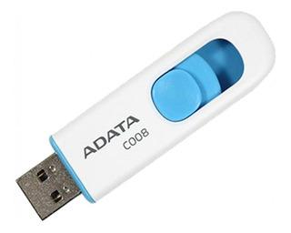 Memoria USB ADATA C008 8GB blanco/azul