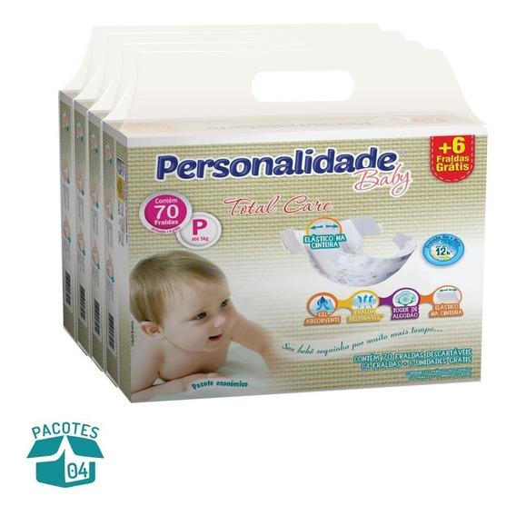 Fralda Personalidade Total Care - 4 Pacotes