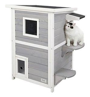 Petsfit Casa De 2 Gatitos / Condominio / Refugio Al Aire Lib