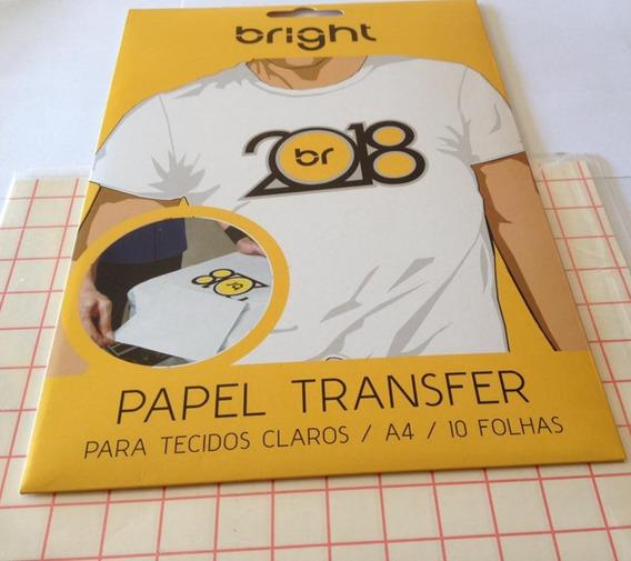 20 Folhas Papel Transfer - Tecidos Claros - Bright