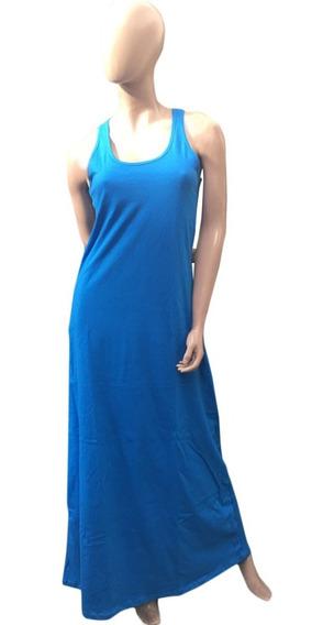 Vestido Musculosa (art 019) Maxi Negro Liso Y Gris. Del 1 Al 7- Jersey De Algodon - Somos Fabricantes.